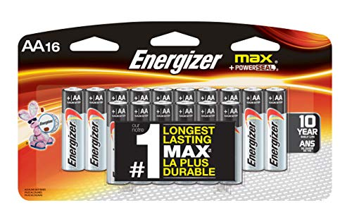 Energizer MAX Alkaline AA Batteries, 16 Pack