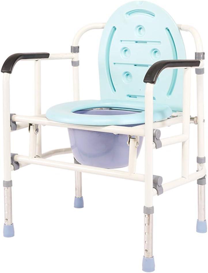 SXFYMWY Taza de Inodoro Plegable Silla de baño Ajustable de Altura Antideslizante, Apta para Personas con Movilidad Reducida