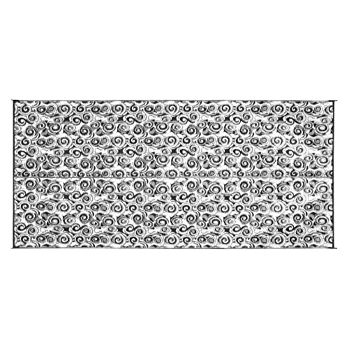 Camco 42843 Outdoor Mat 8 Feet X 16 Charcoal Swirl