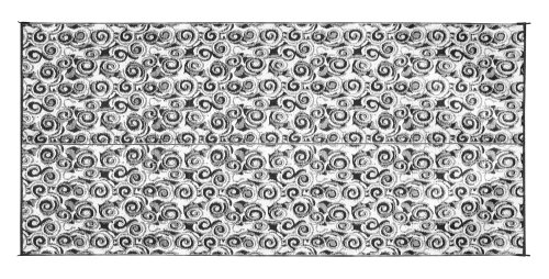 Camco Large Reversible Outdoor Patio Mat - Mold and Mildew Resistant, Easy to Clean, Perfect for Picnics, Cookouts, Camping, and The Beach (8' x 16', Charcoal Swirl Design) (42843) -