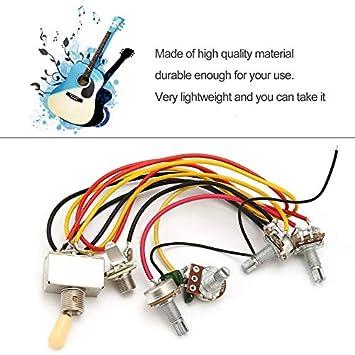Tamlltide 1 juego completo de arnés de cableado para guitarra ...