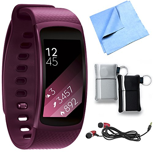 Click to buy Samsung SM-R3600ZINXAR Gear Fit2 Smartwatch with Small Band - Pink Bundle includes Smartwatch w/ Small Band, Metal Ear Buds, Neoprene Pouch 2-Pack and Microfiber Cleaning Cloth - From only $129.99