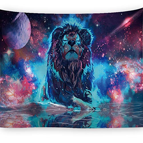 BJYHIYH Lion Tapestry Universe Galaxy Tapestry Trippy Space Tapestries Wall Art for Bedroom Living Room Dorm Decor(59.1