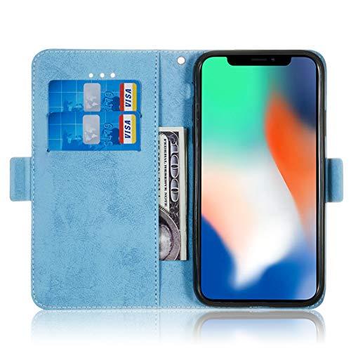 Con Incorporado V Para Wallet Iphone Soporte Cuero X Pu De xs Flip Billetera 6 función Cierre Lyzwn Funda Magnético Case Funda Cover Carcasa fpwOx