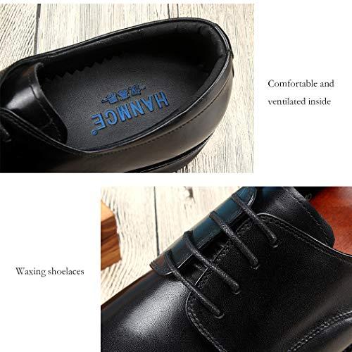 Da Incollate Autunno Black Nero Scarpe Fino Sposa Cucito Business amp; Da Classico A Mano Calzature Uomo Marrone Abito Suole Pizzo Scarpe Formale Scarpe Con dwICIqR