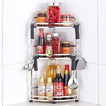 Bastidores de acero inoxidable piso de la cocina condimento rack 3 ...