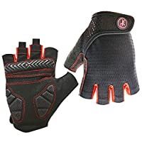 HuwaiH Bike Gloves Gel Pad Shock-absorbing | Anti-slip Outdoor Sports Riding Working Half Fingers Cycling Gloves Short Mountain Bicycle Motorcycle Gloves