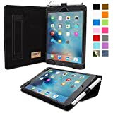 iPad Mini 4 Case, Snugg - Black Leather Smart Case Cover [Lifetime Guarantee] Apple iPad Mini 4 Protective Flip Stand Cover with Auto Wake / Sleep