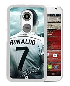 Beautiful Classic Soccer Player Cristiano Ronaldo(5) White Case For Moto X 2nd gen