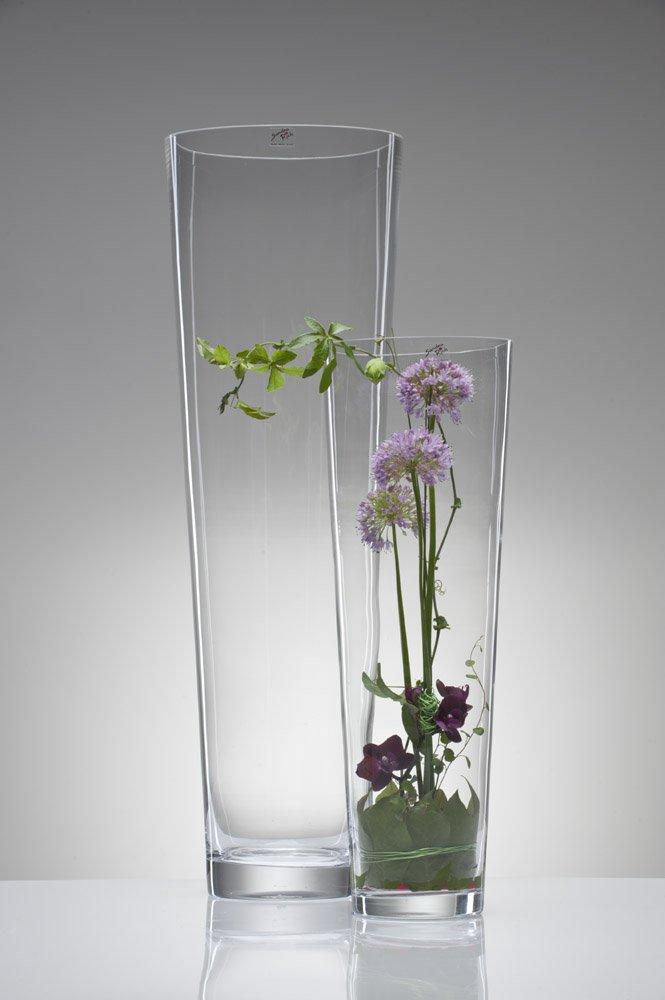 Vetro Height: 70 cm Diameter: 22,5 cm clear Vaso in vetro XXL conico trasparente con taglio a freddo by Sandra Rich