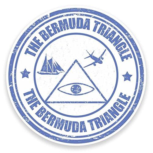 2 x 20cm/200mm Bermuda Triangle Vinyl SELF ADHESIVE STICKER Decal Laptop Travel Luggage Car iPad Sign Fun #9272