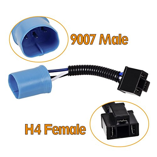 Astonishing Well Wreapped Vplus 9007 To H4 Adapter Headlight Conversion Cable Wiring Digital Resources Nekoutcompassionincorg