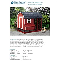DIY Chicken Coop / Hen House 4 ft x 8 ft Barn / Gembrel Roof Style Project Plans, Design 70408RB