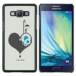 YiPhone /// Prima de resorte delgada de la cubierta del caso de Shell Armor - Amo Agua - Samsung Galaxy A5 A5000