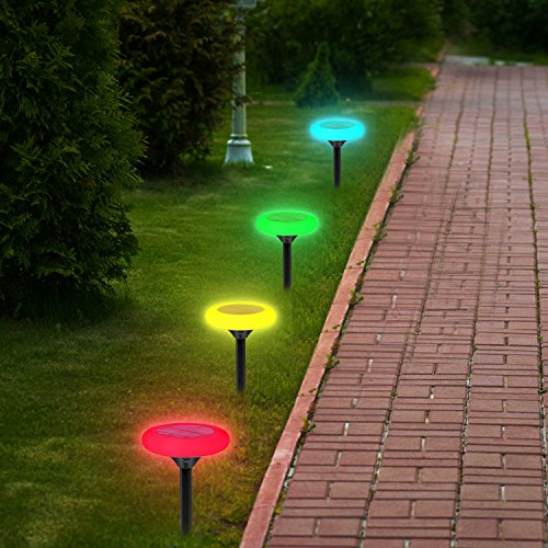 Outdoor Patio Ground Lights: Findyouled 10pcs LED Solar Garden Light Waterproof Solar
