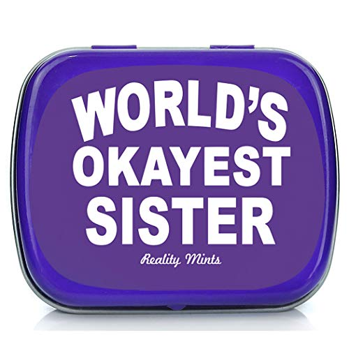 World's Okayest Sister Mints Funny Gags Sisters Weird Stocking Stuffers Sister Jokes Peppermint Breath Mints Big Sis Little Sister Friend