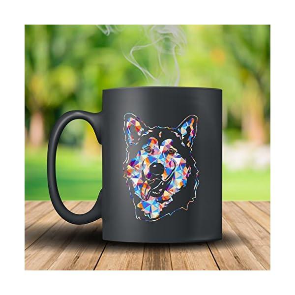 Alaskan Malamute Coffee Mug Ceramic - Alaskan Malamute Colorful Mugs, Black Mug, Tea Cup 15oz A Little Gift For Friends 2