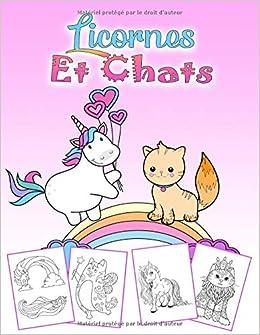 Licornes Et Chats Un Magnifique Livre De Coloriage Licorne