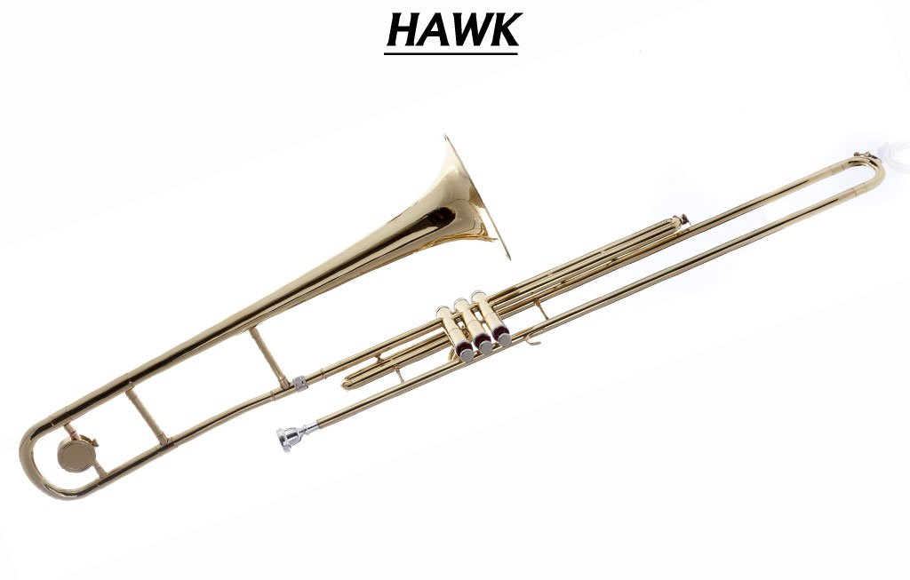 Fever Valve Gold Bb Trombone with Case and Mouthpiece