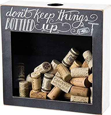 Primitives by Kathy Cork & Cap Holder DON'T KEEP THINGS BOTTLED UP by Primitives By Kathy