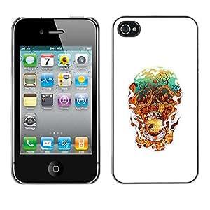 Caucho caso de Shell duro de la cubierta de accesorios de protección BY RAYDREAMMM - iPhone 4 / 4S - Resumen astonaut