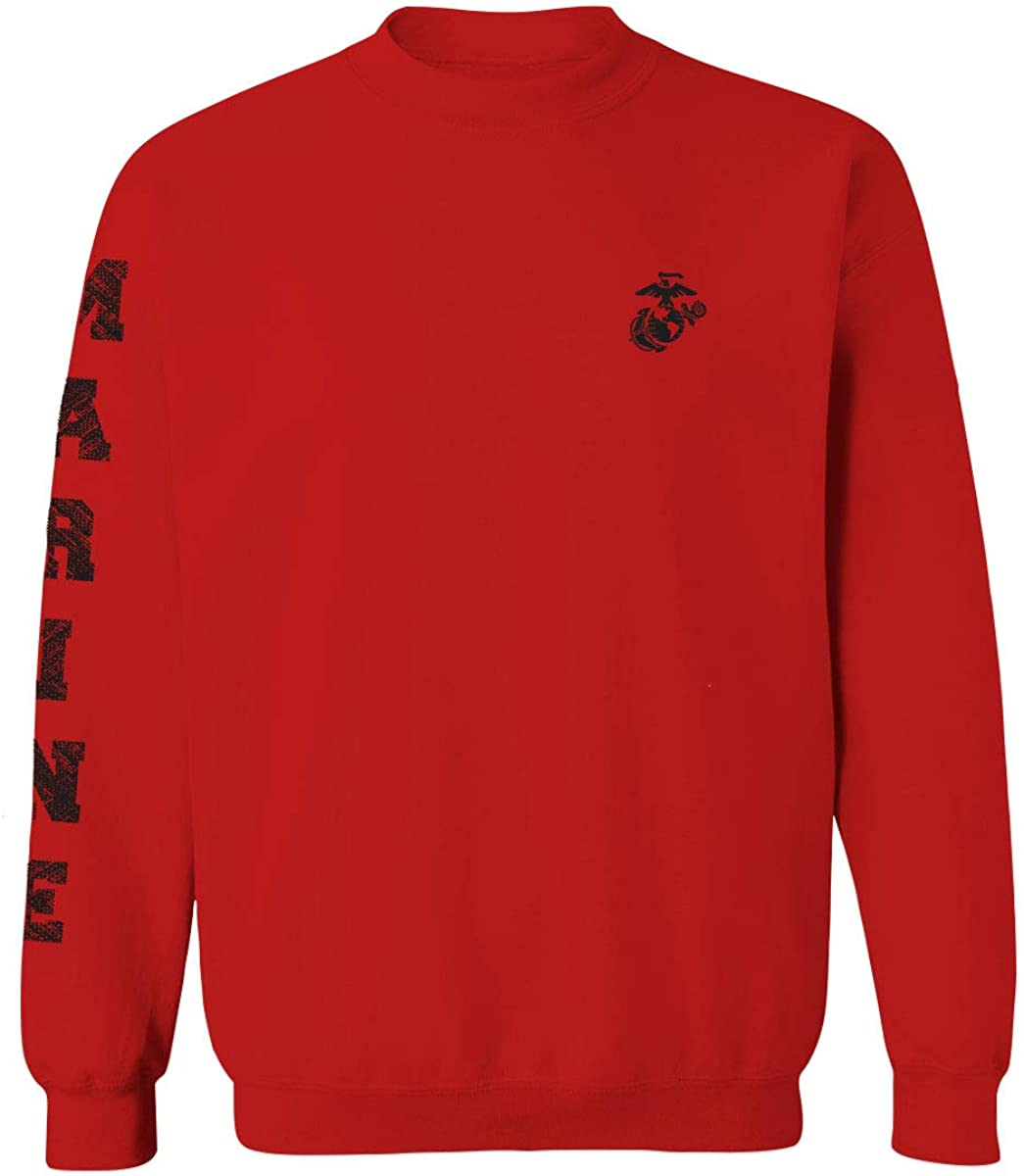 Black Seal Marine Corp Logo USMC United States of America American Mens Crewneck Sweatshirt