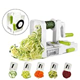 Midas 5-Blade folding Vegetable Slicer, Strongest-Heaviest Duty, Best Veggie Pasta & Spaghetti Maker for Low Carb/Paleo/Gluten-Free Meals