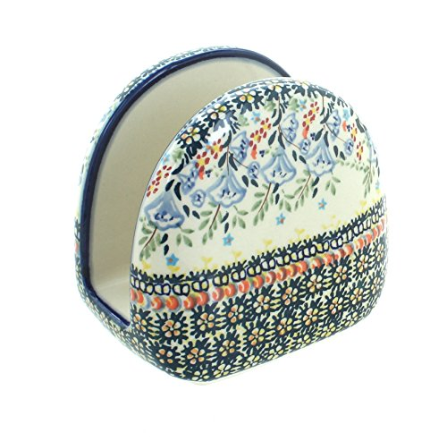 Blue Rose Polish Pottery Periwinkle Napkin (Polish Pottery Napkin Holder)