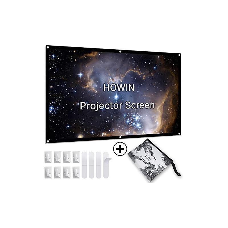 Projector Screen 100 inch, 4k 16:9 Anti-