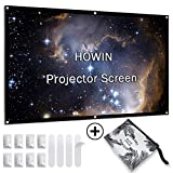 84 inch Projector Screen, 4k 16:9 Anti-Crease Portable Indoor Projection Screen, HD Double Sided Office Bedroom Foldable Projection Movie Screen for Home Theater