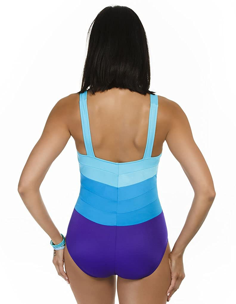 fdc7dd1812 Miraclesuit Spectra Square Neck Surf Blue Soft Cup Swimsuit 451040 16 UK:  Miraclesuit: Amazon.co.uk: Clothing