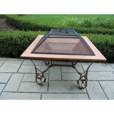 Oakland Living Victoria 33-Inch Fire pit with Grill