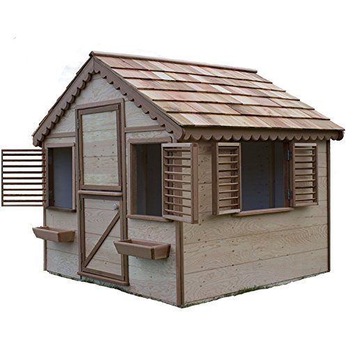 6 ft. x 6 ft. Little Alexandra's Cottage Deluxe Playhouse Kit with Covered Front Porch (Deluxe Playhouse)