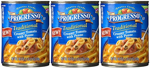 Progresso, Traditional, Creamy Tomato with Penne Soup, 18.5oz Can (Pack of 3)