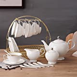 DHG Ceramic Coffee Set Household Simplicity English Afternoon Tea Tea Continental Flower Tea Cup Coffee Set,A