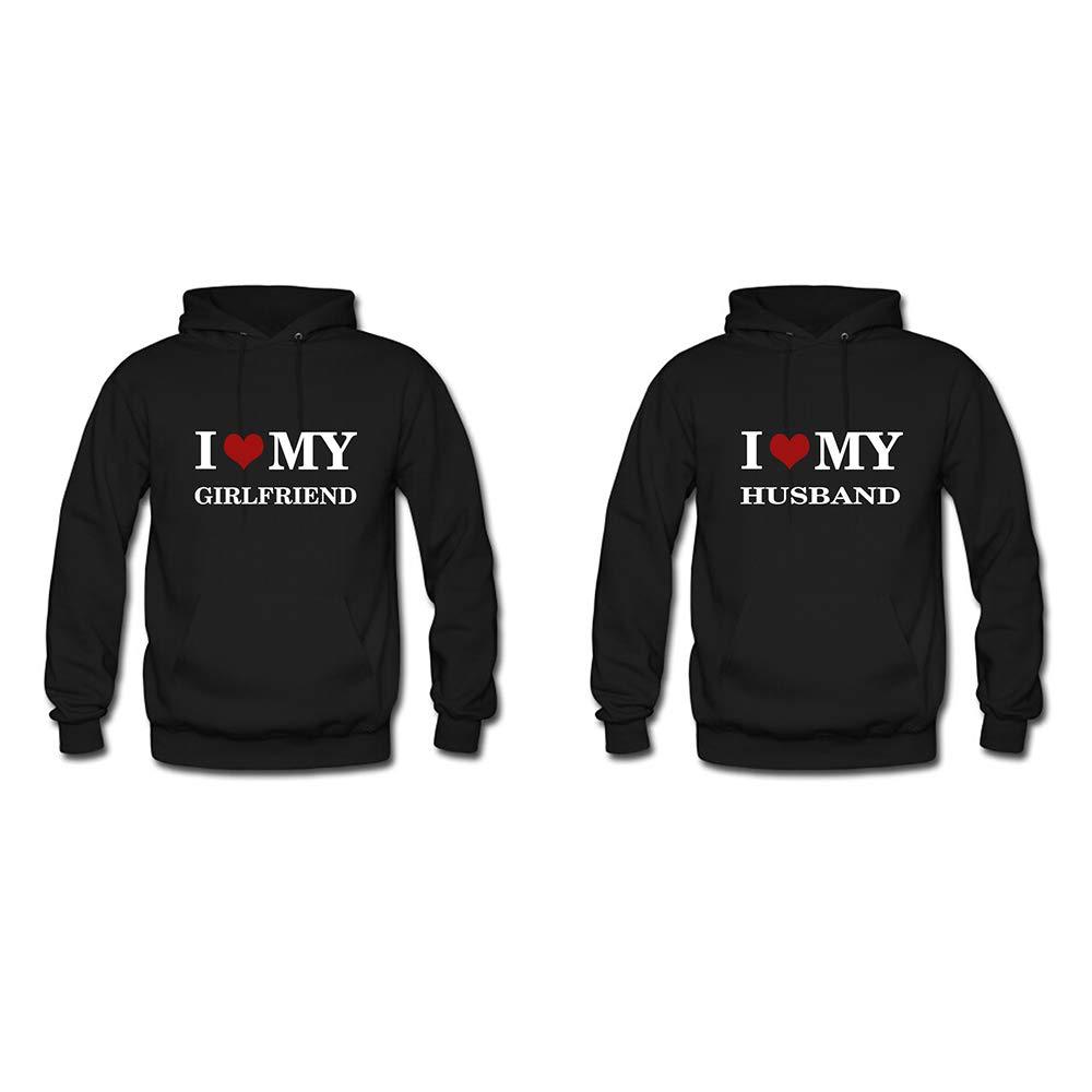 UlanLi I Love My Girlfriend,I Love My Husband Couple Matching Hoodies