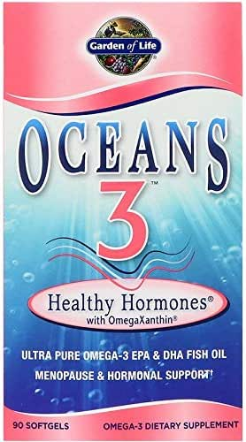 Garden of Life, Oceans 3, Healthy Hormones with OmegaXanthin, 90 Softgels