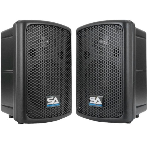 Seismic Audio - NPS-8Pair - Pair of 8 Inch Molded PA SPEAKERS - 180 Watts Passive Speaker System