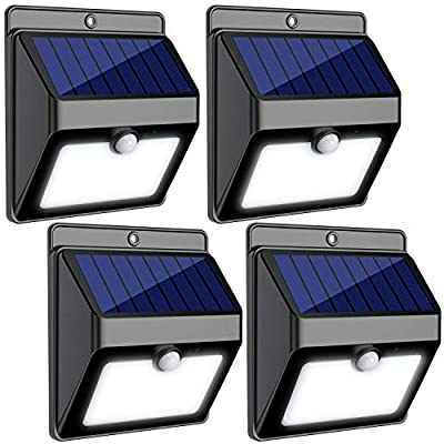 InnoGear Upgraded 22 LED Solar Lights Outdoor Waterproof Motion Sensor Post Security Night Light for Patio Deck Yard Garden Auto On/Off, Pack of 4