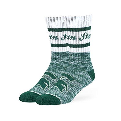OTS NCAA Michigan State Spartans Jensen Sport Socks, Medium, Dark (Michigan State University Shorts)