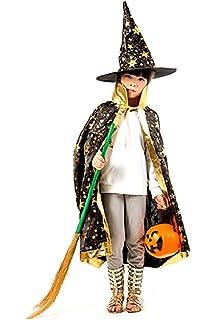 chenpaif Niño Niños Bruja de Halloween Disfraz de Mago Cosplay ...