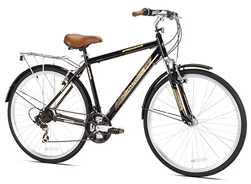 Northwoods Mens Crosstown 21 Speed Hybrid Bicycle, Black