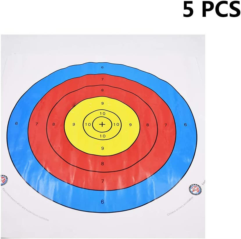 40 cm 5 Pcs Cost-Effective and Durable Ogquaton Semi-Ring Archery Target Paper Archery Equipment Dedicated Target Paper Archery Accessories 40