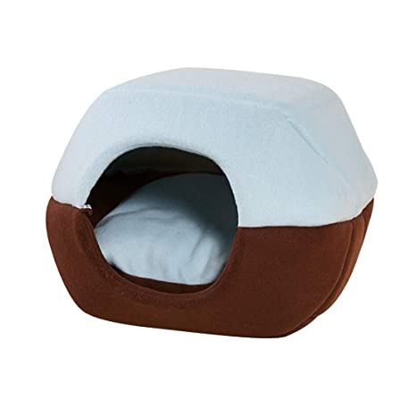 Zhuomei Cómodo Nido para Mascota Cueva de Dormir para Perro Gato Cama Cojín 2 en 1