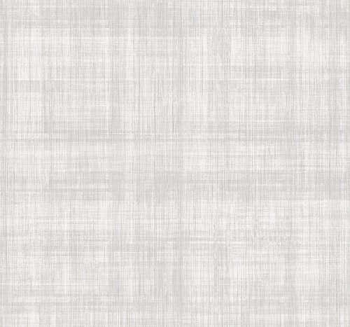 Gingham Patterned Minimalist Detailed Vertical Stripes Gray Purple Cream Textured Wallpaper Double Roll - Wallpaper Cream Double Roll