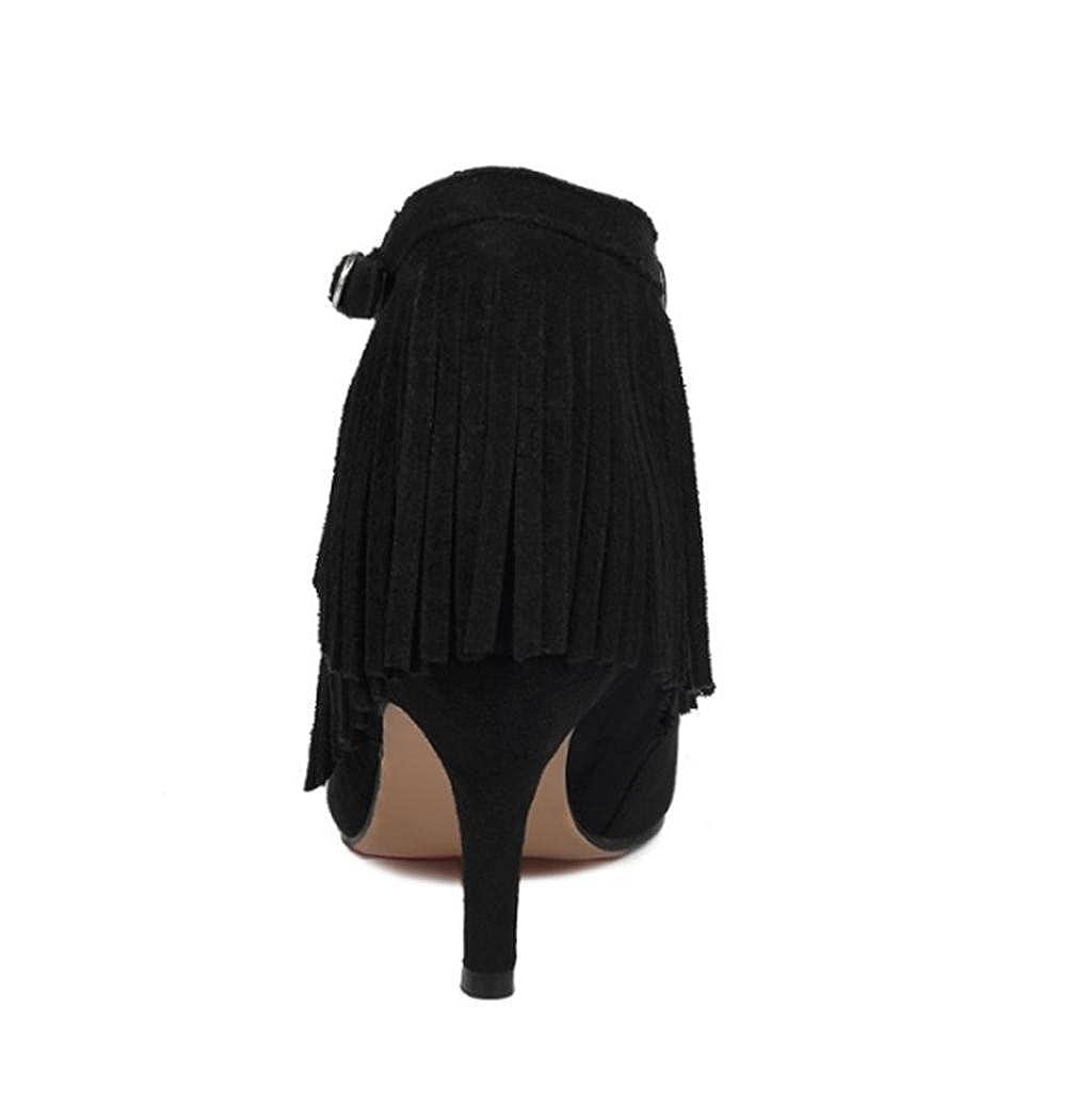 DZW nuevas damas mujeres fiesta de la boda de de de la plataforma de gamuza bombas Strappy alta stiletto talón corte zapatos mujer regalo para ella personalidad f53c81