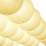 Novelty Place 8 inch White Paper Lanterns (Pack of 10) - Great Chinese/Japanese Home, Party & Wedding Decorations