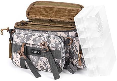 Lixada 多機能 釣り袋 釣具タックル バッグ アウトドアスポーツ ユーティリティーストレージバッグ (カモフラージュ Box Included)