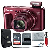 Canon PowerShot SX720 HS 20.3 MP Wi-Fi Digital Camera with 40x Optical Zoom & HD 1080p Video (Red) + Canon Leather Case 11 Piece Value Bundle -  Canon (GP)