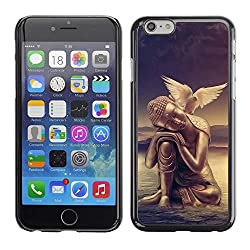 Licase Hard Protective Case Skin Cover - Peace of mind Buddha Dove - Apple Iphone 6 Plus 5.5